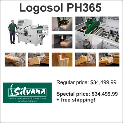 Logosol PH365 5-head planer/moulder