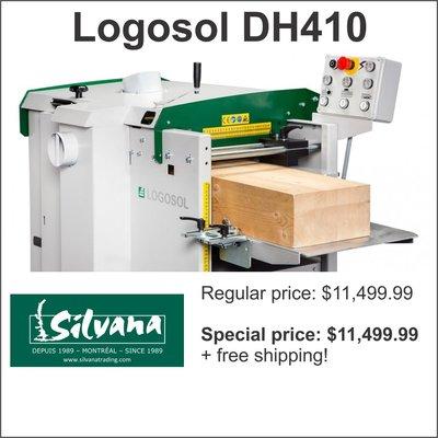 Logosol DH410 2-sided planer/moulder