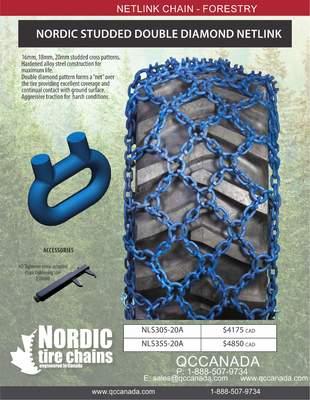 NORDIC STUDDED DOUBLE DIAMOND NETLINK